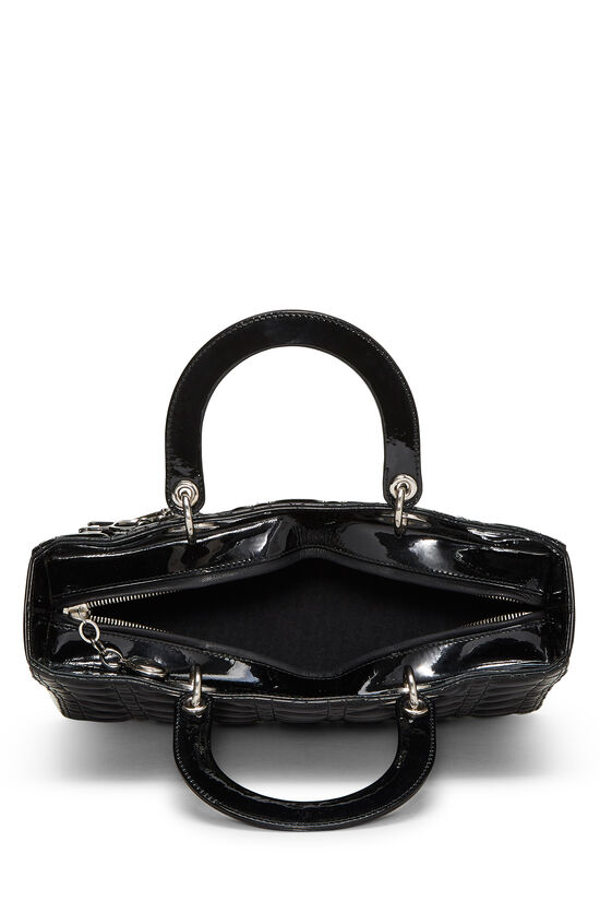Black Cannage Quilted Patent Lady Dior Large, , large image number 5