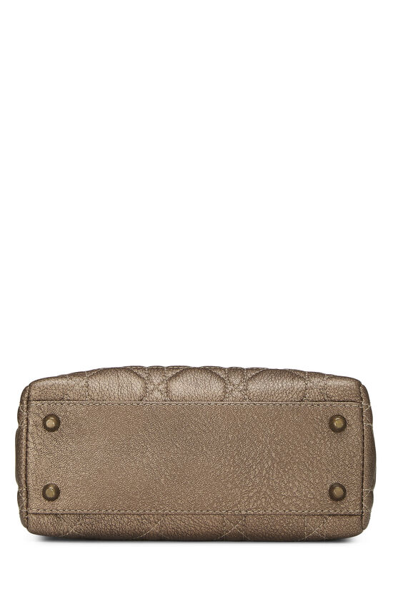 Bronze Cannage Quilted Lambskin Lady Dior Mini, , large image number 4