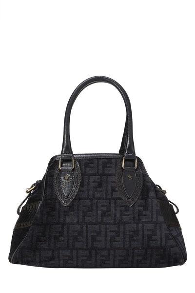 Black Zucca Velour Bag Du Jour Small