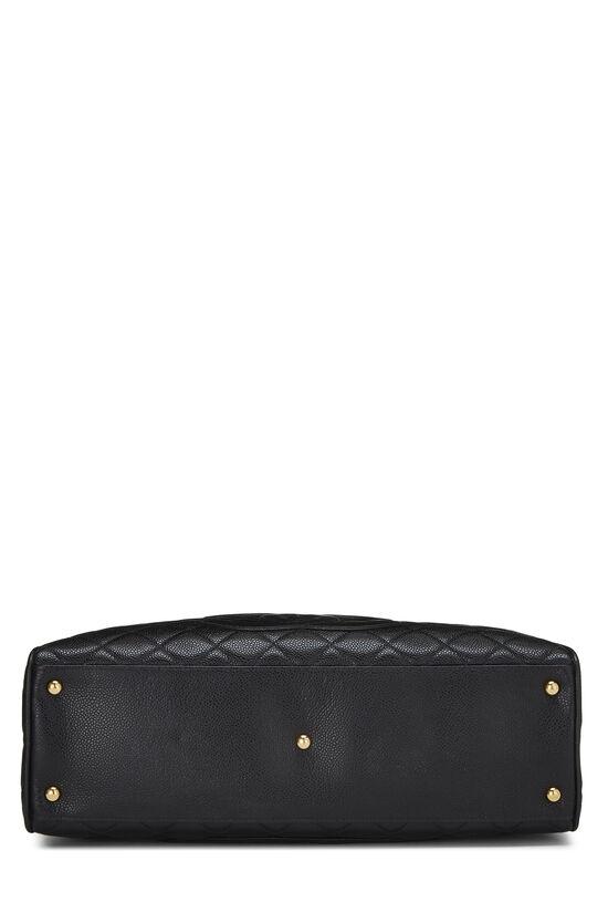 Black Quilted Caviar Bowler Medium, , large image number 4