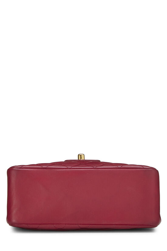 Burgundy Quilted Lambskin Top Handle Small, , large image number 4