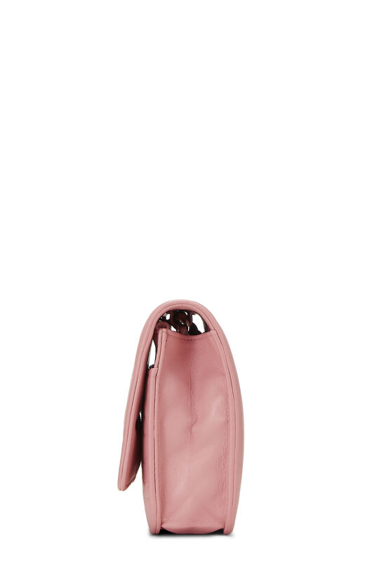 Pink Lambskin Camellia Wallet on Chain (WOC), , large image number 3