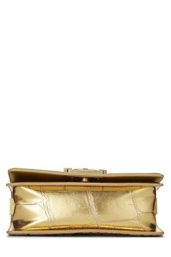Paris-New York Gold Embossed Graffiti Boy Bag Small, , large image number 4