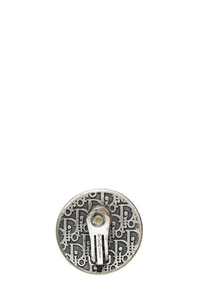 Silver Shield Clip-On Earrings, , large