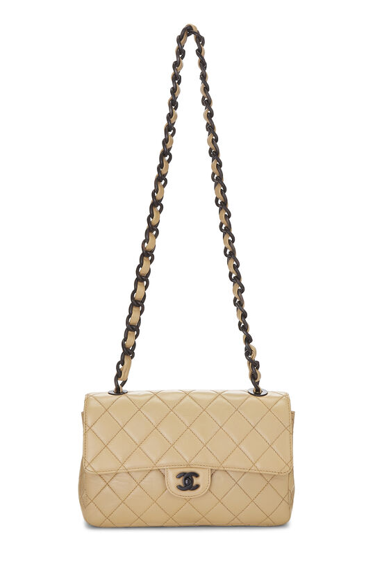 Beige Quilted Lambskin Classic Flap Medium, , large image number 1