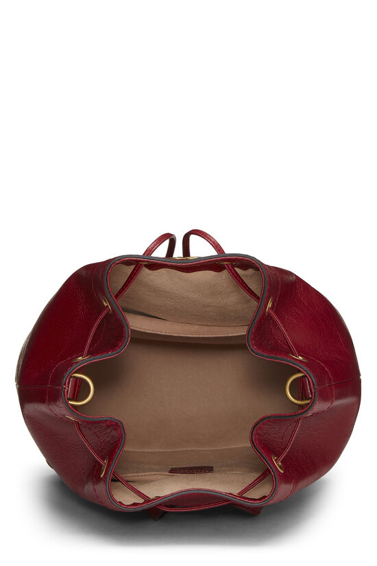 Red Leather (RE)BELLE Convertible Bucket Bag, , large image number 5