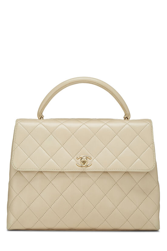 Beige Quilted Lambskin Kelly Medium, , large image number 0