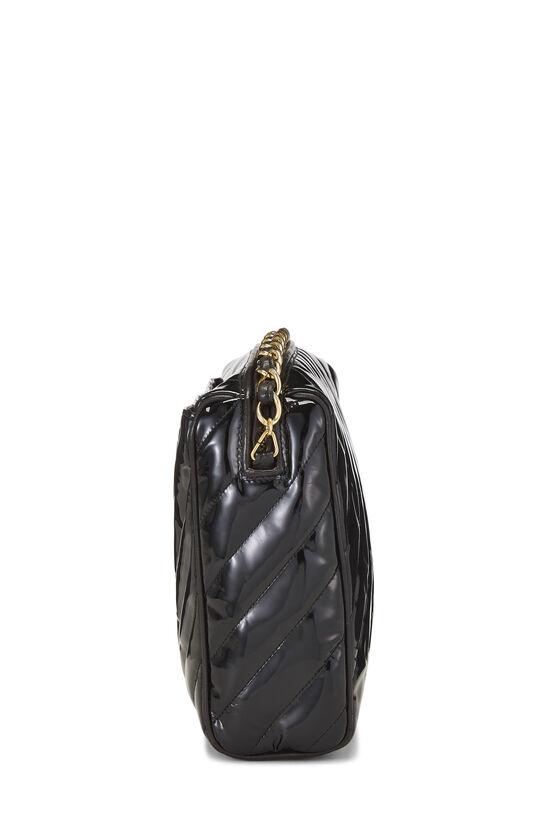 Black Patent Leather Diagonal Camera Bag Large, , large image number 3