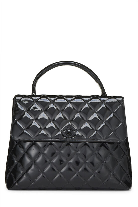 Black Quilted Patent Leather Kelly Jumbo, , large image number 0