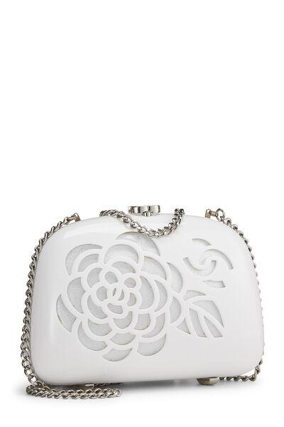 White Acrylic Camellia Minaudiere, , large