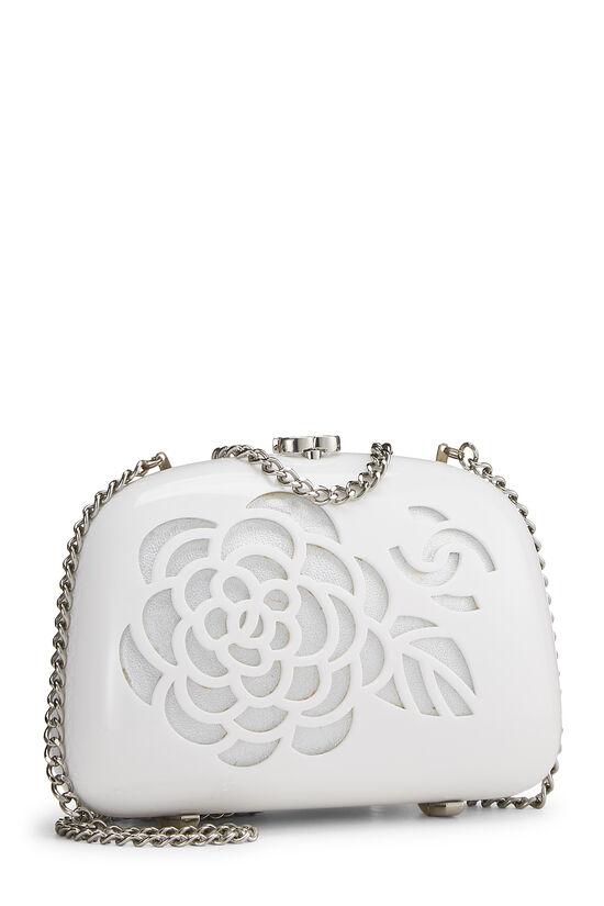 White Acrylic Camellia Minaudiere, , large image number 1