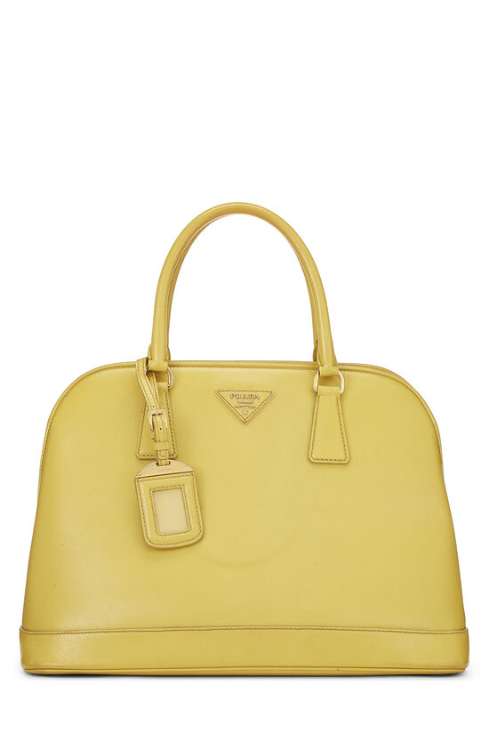 Yellow Vernice Saffiano Dome Tote, , large image number 0
