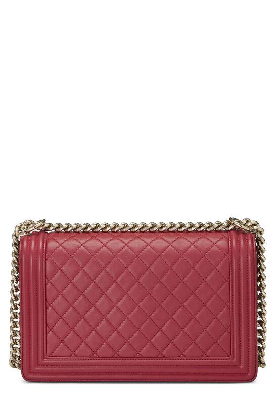 Pink Quilted Lambskin Boy Bag Medium, , large image number 4
