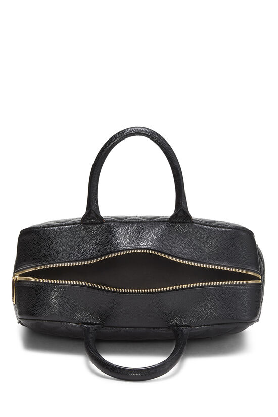Black Quilted Caviar Bowler Medium, , large image number 5