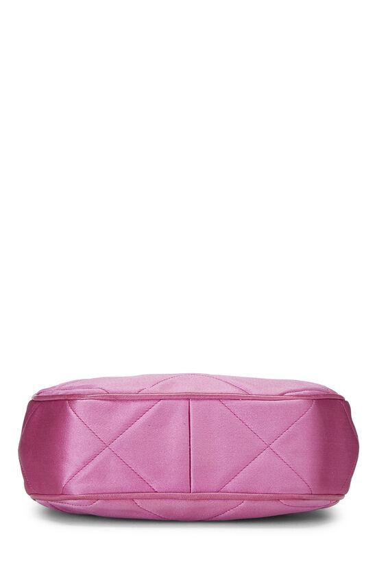 Pink Quilted Satin 'CC' Shoulder Bag Mini, , large image number 4