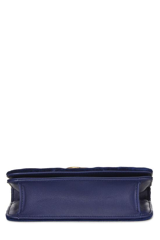 Blue Velvet GG Marmont Wallet on Chain Mini, , large image number 4