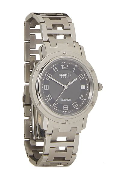 Grey & Stainless Steel Clipper Watch GM