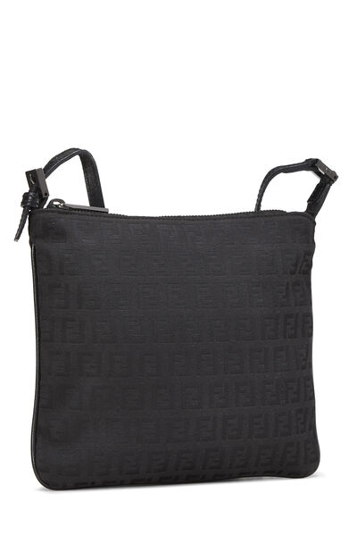 Black Zucchino Canvas Shoulder Bag Small, , large