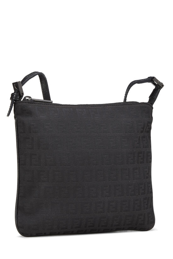 Black Zucchino Canvas Shoulder Bag Small, , large image number 1