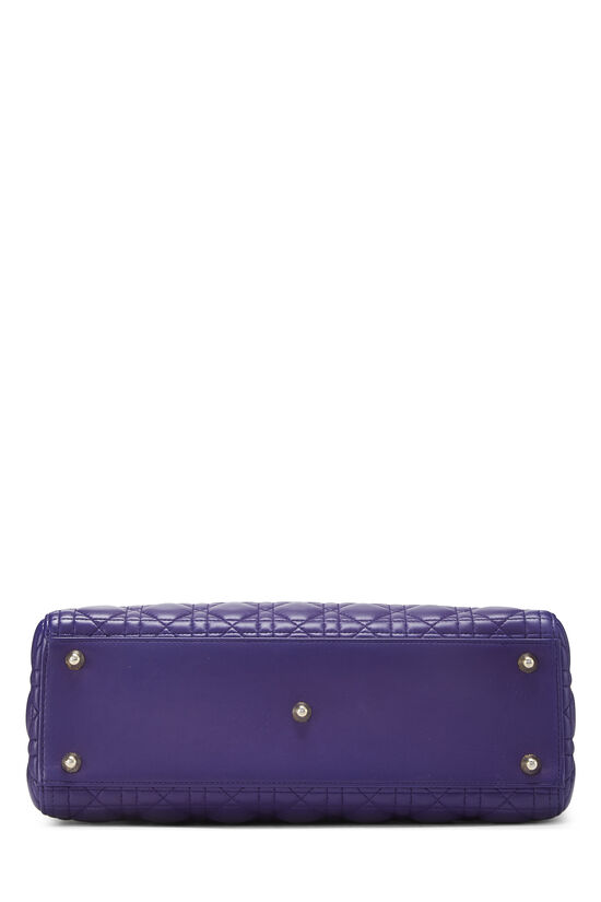 Purple Cannage Quilted Lambskin Lady Dior Large, , large image number 5