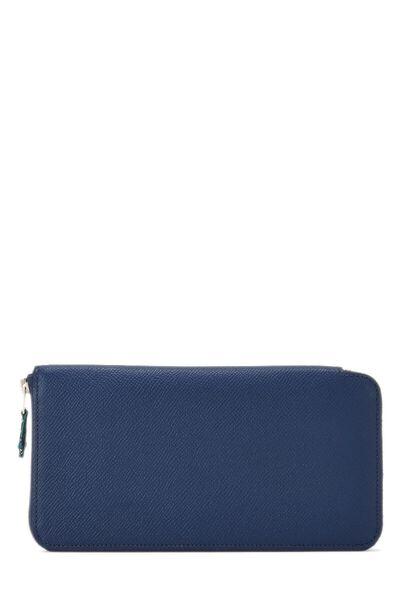 Blue Saphir Silk-In Epsom Azap Continental Wallet