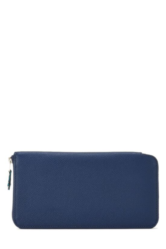 Blue Saphir Silk-In Epsom Azap Continental Wallet, , large image number 0