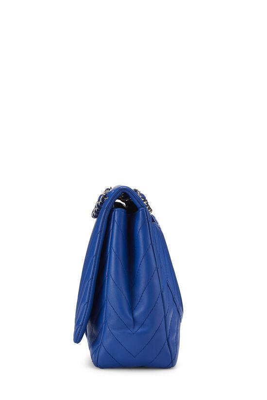 Blue Chevron Lambskin Full Flap Maxi, , large image number 2