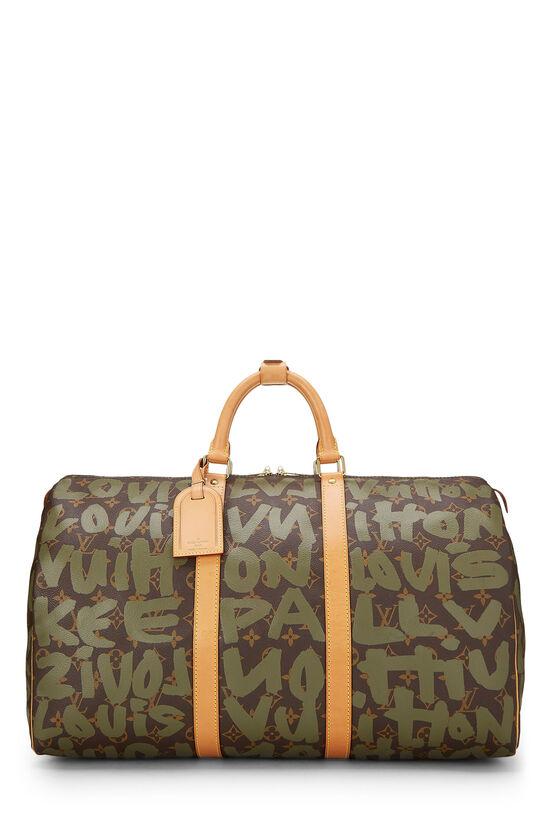 Stephen Sprouse x Louis Vuitton Green Monogram Graffiti Keepall 50, , large image number 0