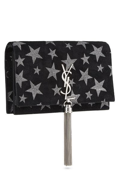 Black Star Suede Kate Tassel Wallet-on-Chain, , large