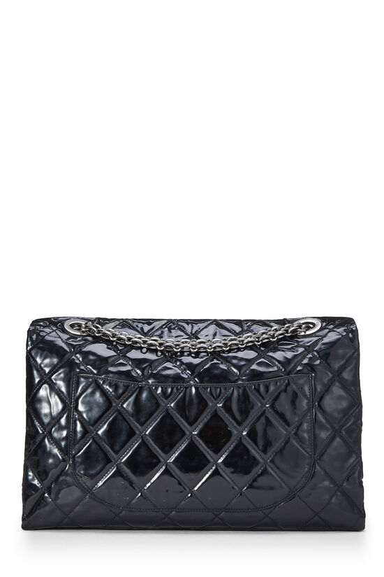 Black Quilted Patent Leather Reissue Flap Bag XL, , large image number 3