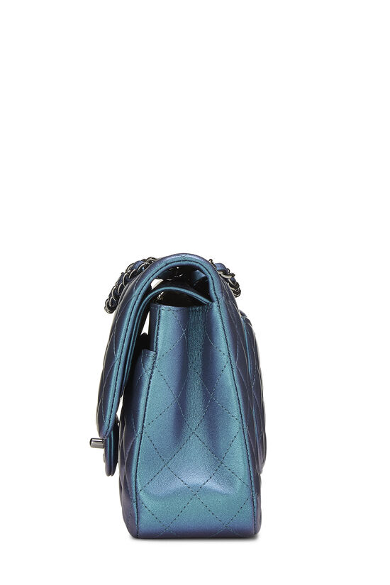 Iridescent Blue Quilted Lambskin Classic Double Flap Medium, , large image number 2