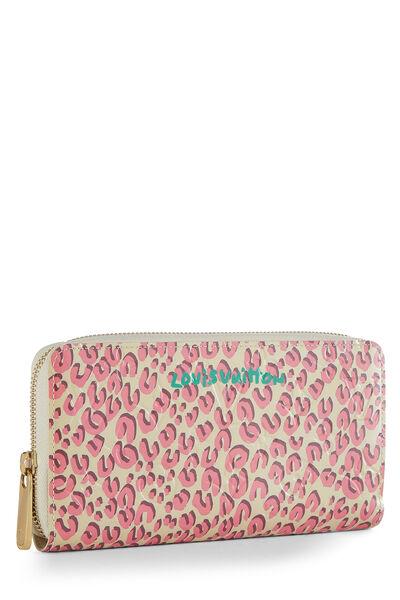Stephen Sprouse x Louis Vuitton Blanc Corail Vernis Leopard Zippy Continental Wallet, , large