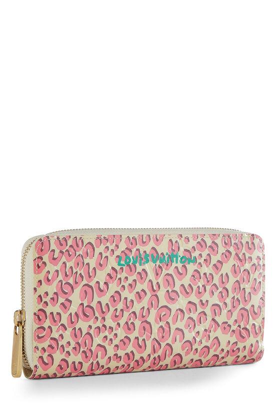 Stephen Sprouse x Louis Vuitton Blanc Corail Vernis Leopard Zippy Continental Wallet, , large image number 1