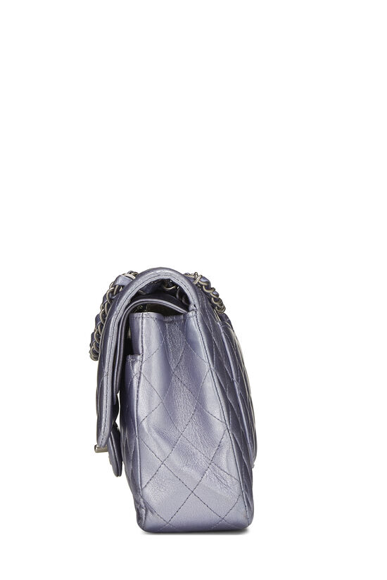 Metallic Purple Quilted Lambskin Classic Double Flap Medium, , large image number 2