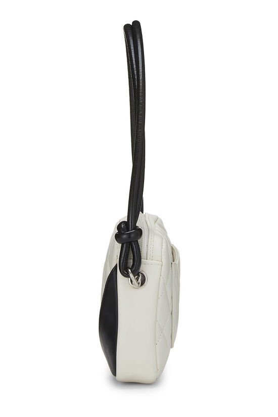 White Quilted Calfskin Cambon Ligne Pochette, , large image number 2