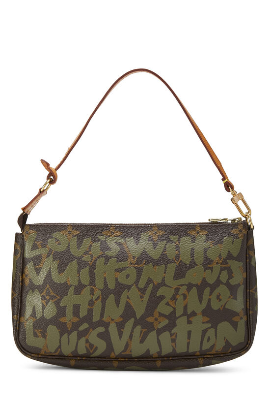Stephen Sprouse x Louis Vuitton Green Monogram Graffiti Pochette Accessoires, , large image number 3