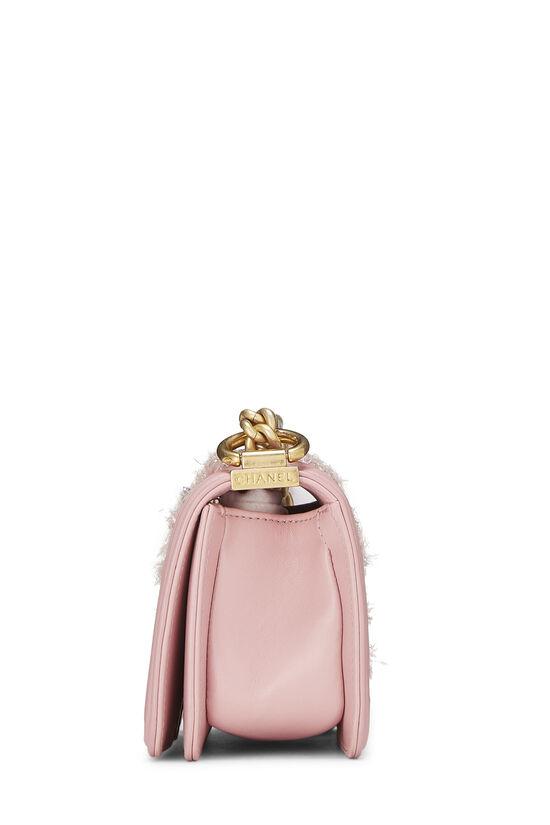 Pink Calfskin & Multicolor Tweed Boy Bag Mini, , large image number 3