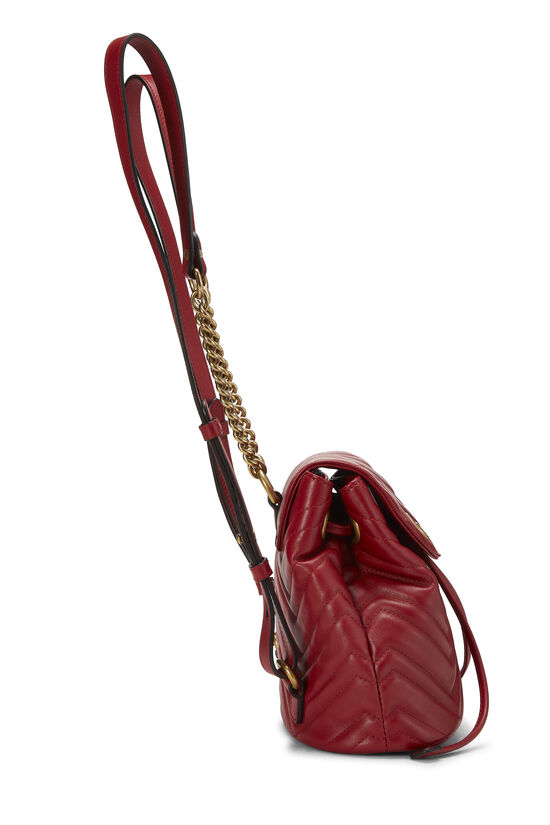 Red Leather 'GG' Marmont Backpack Small, , large image number 2