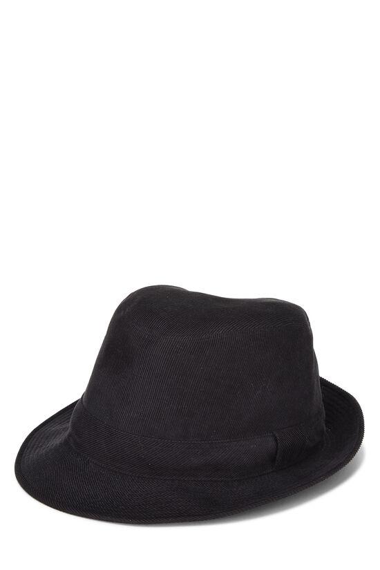 Black Corduroy Bucket Hat, , large image number 2