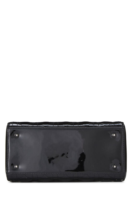 Black Cannage Quilted Patent Leather Lady Dior Medium, , large image number 5