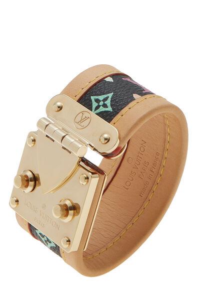 Takashi Murakami x Louis Vuitton Black Multicolore S-Lock Bracelet