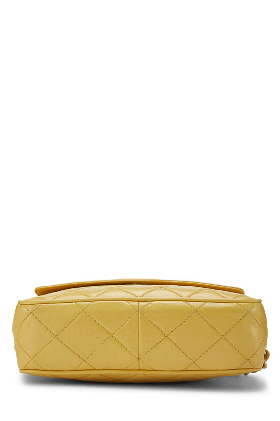 Yellow Quilted Lambskin Pocket Camera Bag Mini, , large image number 5
