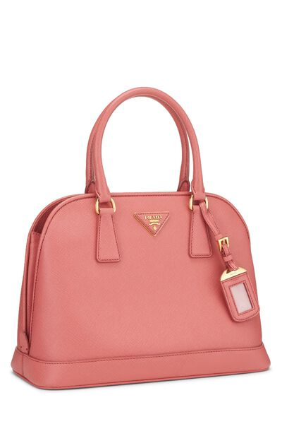 Pink Saffiano Dome Tote, , large