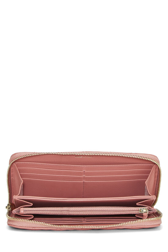 Pink Quilted Lambskin Zip Wallet, , large image number 3