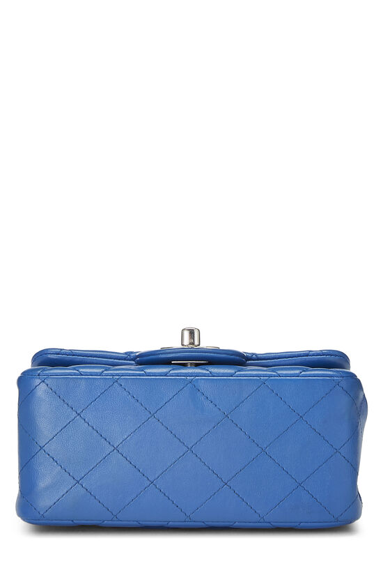Blue Quilted Lambskin Classic Square Flap Mini, , large image number 4