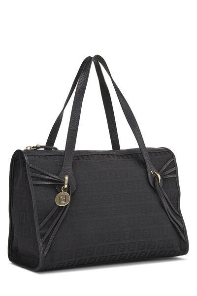 Black Zucchino Canvas Handbag Small, , large