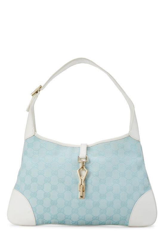 White & Blue GG Canvas Jackie Shoulder Bag Small, , large image number 0