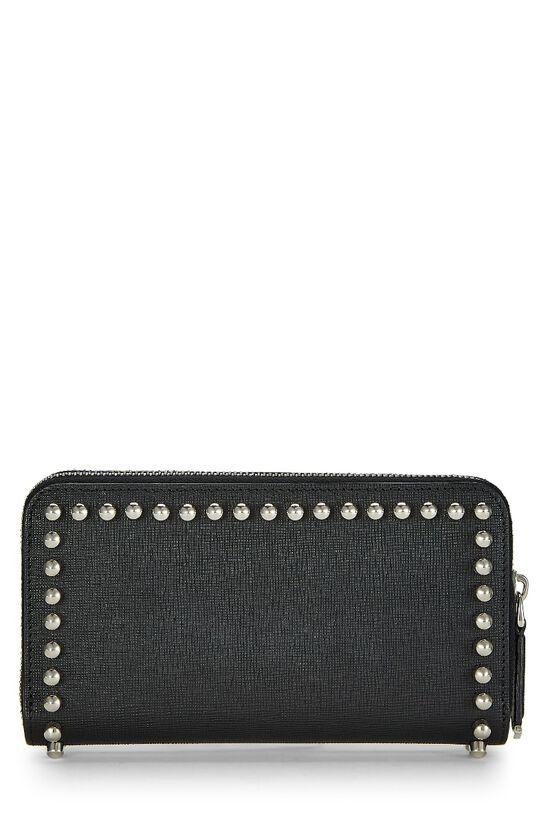 Black Coated Canvas Karlito Wallet, , large image number 2