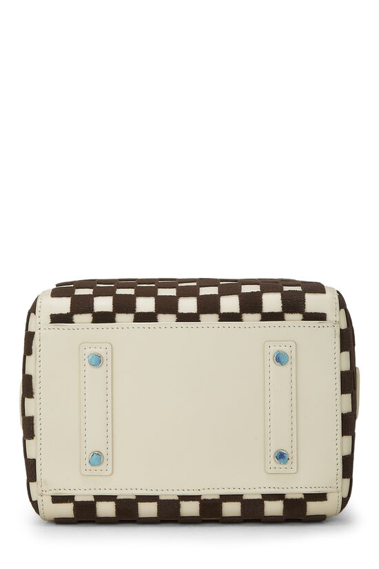 Cream & Brown Damier Cubic Speedy Cube PM, , large image number 3