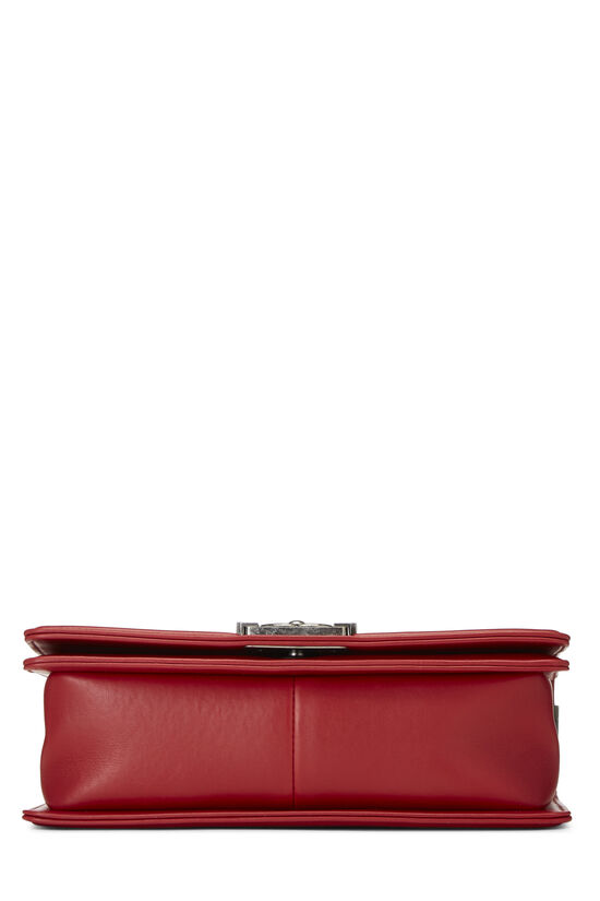 Red Quilted Lambskin Boy Bag Medium, , large image number 5